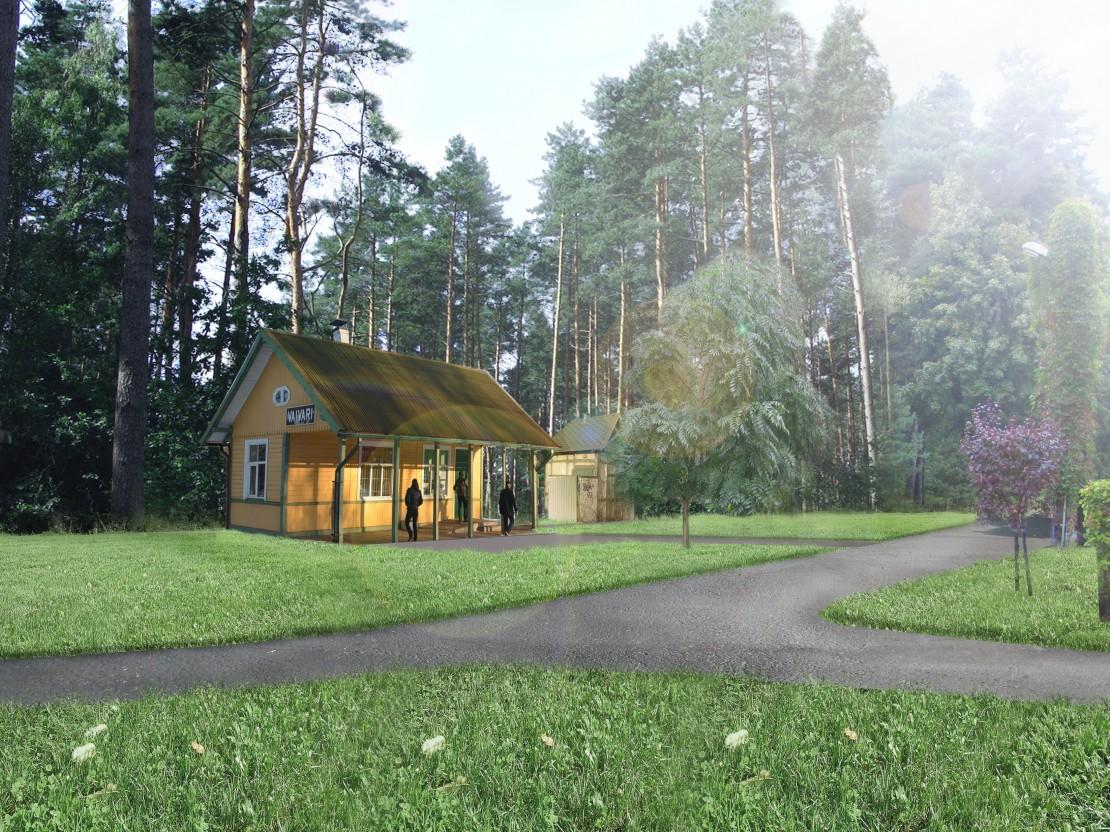 Vaivāru stacijas ēkas vizualizācija